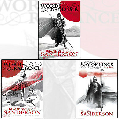 Brandon Sanderson Words of Radiance 3 Books Collection Set (The Way of Kings)NEW