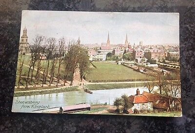 Old Postcard Of Shrewsbury From Kingsland