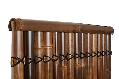1m Bamboo Hand Made Fence Screen Panel Protective Capping Cover Brown Colour