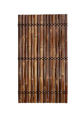 1.8m x 1m Bamboo Fence Screen Panel Divider Hand Made Strong Brown Colour