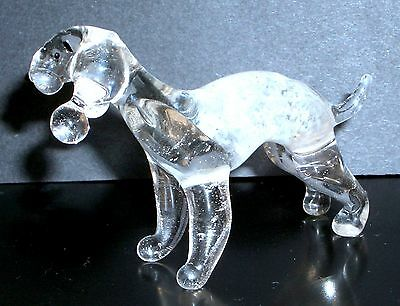 "Hand Blown ""murano"" Glass Collectable Bedlington Terrier  Dog  Figurine"