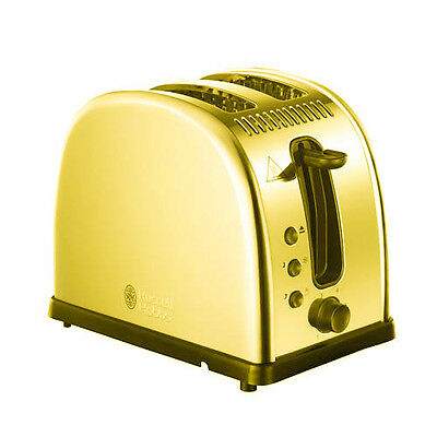 LUXURY 24K Gold Plated Russell Hobbs Legacy 2-Slice Toaster 21290