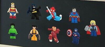 New Loose 9pcs The Lego Movie® 3cm Fridge Magnets Memo Holders Party Favours