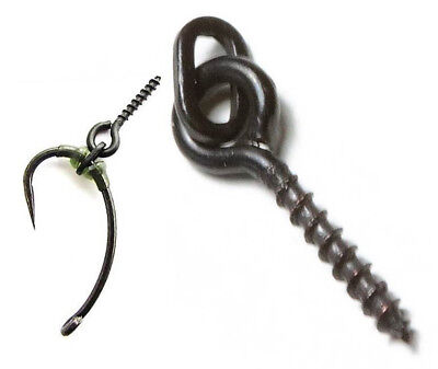 Bait Screw W// Oval Rings for Carp Fishing Tackle Boilie Bait Pop Up Chod Rig ☆