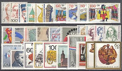 BUNDESPOST BERLIN - 1989 complete year MNH