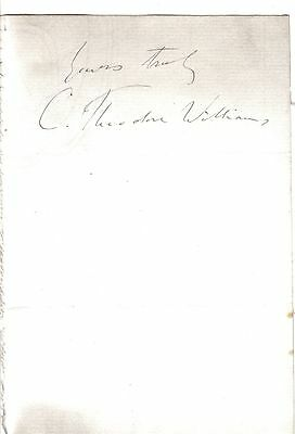 Charles Theodore Williams  - Victorian authority on pulmonary tuberculosis - sig