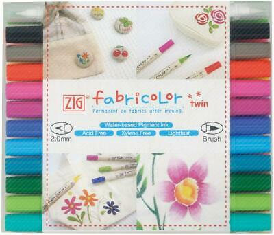 Fabricolor Twin Marker - Set of 24 - Zig Free Shipping!