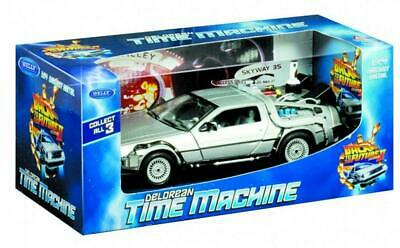 Back To The Future II - DeLorean Die Cast 1:24 Scale - Welly Free Shipping!