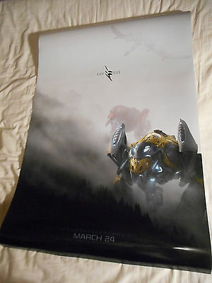 "POWER RANGERS official movie poster one sheet DS 27""x40"" Mighty Morphin 2017 v10"