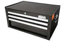 Halfords Industrial 3 Drawer Middle Chest Tool Box Black BN
