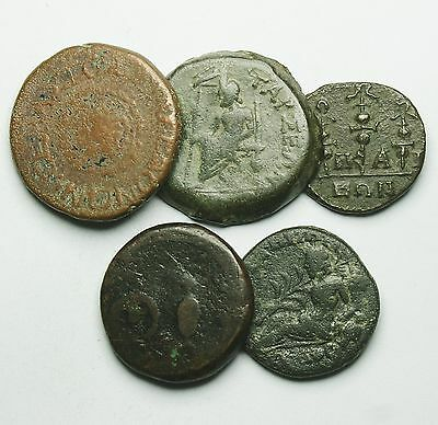 Interesting Selection Of 5 Roman Provincial Coins (30N)