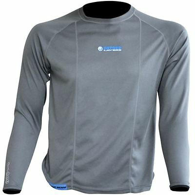 Oxford Layers Cool Dry Long Sleeve Top Men's Motorbike Base Layer Shirt Grey New