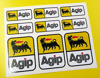 AGIP style Motorbike Motorcycle HELMET Decals Stickers Fairing Toolbox Forks