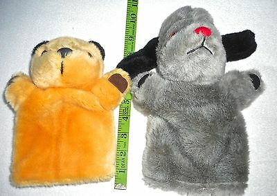 Sooty And Sweep 2 Glove Puppets By Pms From The Tv Show Sweep Has Squeaker
