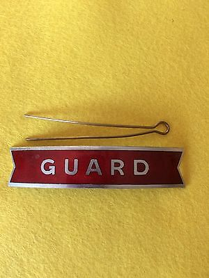British Railways Midland Region Guard Red Enamel Fishtail Cap Badge