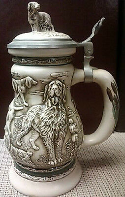 Great Dogs of the Outdoors with Pewter Lid Beer Stein, 1991 - NO Box