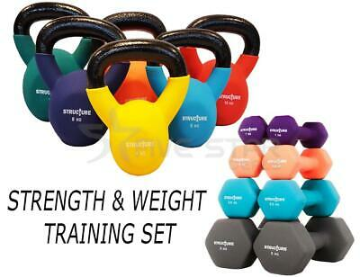 Strength & Weight Training Set Neoprene Iron Dumbbells Kettlebells Home Fitness