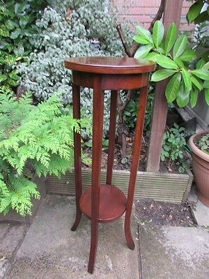 VINTAGE MAHOGANY 2 TIER Plant Pot Stand / Lamp Table / Jardinaire
