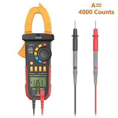 Digital Clamp Meter Auto Ranging Multimeter with AC/DC Voltage&Current, Resistan