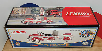 LENNOX DIECAST 1940 Gendron Custom Pioneer Pedal Car and Trailer BANK COA 1:6