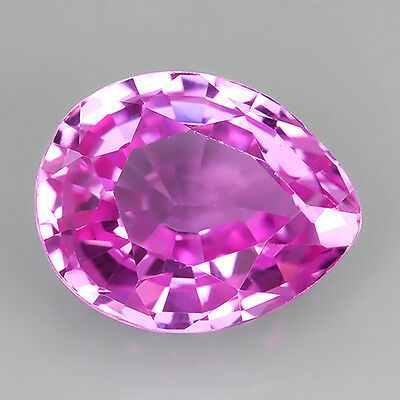 5.20 Ct. BEST COLOUR PINK SAPPHIRE LAB-CREATED PEAR SHAPE 8.8x10.9x6.1 Mm.