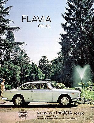Pubblicità originale Anni 60 LANCIA FLAVIA COUPE advertising werbung reklame OLD