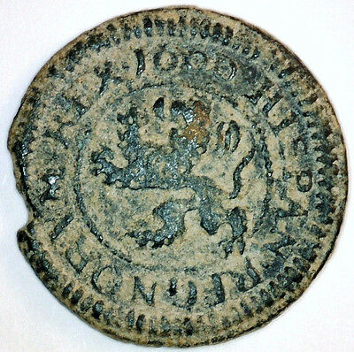 Ancient Spanish Florida Coin Dated 1600