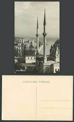 Turkey Old Real Photo Postcard Istanbul Dolma Baghtch Mosque Clock Tower Mosquee