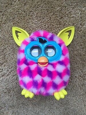 Hasbro Furby Boom Electronic Pet Toy Hot Pink And Purple Works!