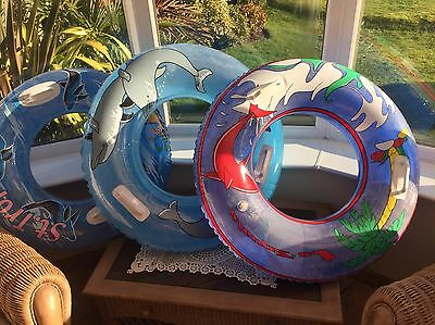 3x Large Swim Rings/ Tubes Dolphin/ Whale Themed