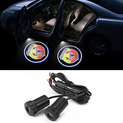 KIT COPPIA LUCI DI CORTESIA A LED PER PORTE LOGO AUTO - ABARTH - cod. 0301520