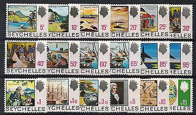 Seychelles : 1969 Pictorial Definitive Set S.g.262 To 279 Unmounted Mint.