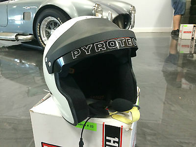 Pyrotect Open Face racing Helmet. Chatter Box communication.