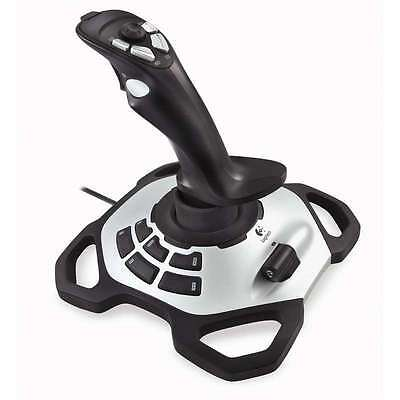 Logitech Extreme 3D Pro Joystick Stable Precise 8-Way PC Game Gaming Controller