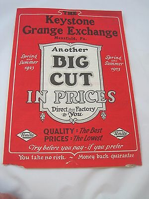 Vintage 1923 Keystone Grange Exhange Farm Equipment Catalog Plows Supplies Mills
