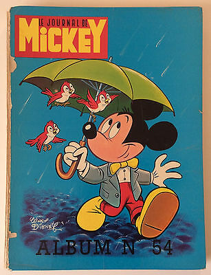 ALBUM LE JOURNAL DE MICKEY n°54 ¤ avec n°1026 à 1038 ¤ 1972 DISNEY