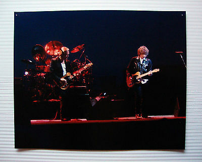 """Bob Dylan w/ GE Smith Original 8"""" X 10"""" 1988 Color Photo Neverending Tour Year 1"""