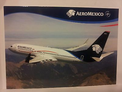 Airline Issue-AEROMEXICO Boeing 737-Aviation Airplane Postcard