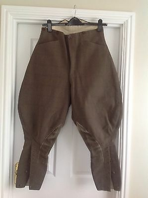 """Mens Vintage Hunting Breeches Plus Fours Trousers Approx 32"""" Waist"""
