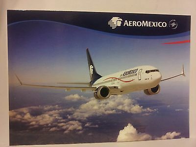 Airline Issue-AEROMEXICO Boeing 737--Aviation Airplane Postcard