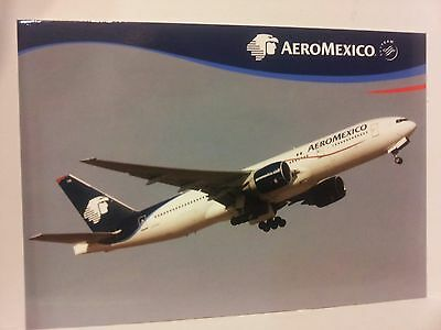 Airline Issue-AEROMEXICO Boeing 777-Aviation Airplane Postcard