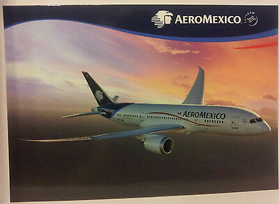 Airline Issue-AEROMEXICO Boeing-787 Dreamliner-Aviation Airplane Postcard