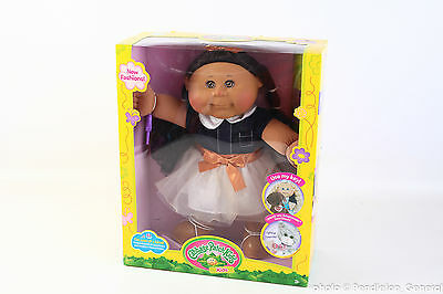 "Cabbage Patch Kids 14"" Kid Tan Brunette Girl Doll Cowgirl Fashion CPK"