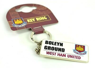 West Ham United FC Official Crested Street Sign Keyring Boleyn Ground