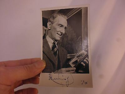 PETER CUSHING Genuine signed AUTOGRAPH photo RP hand written note HAMMER HORROR