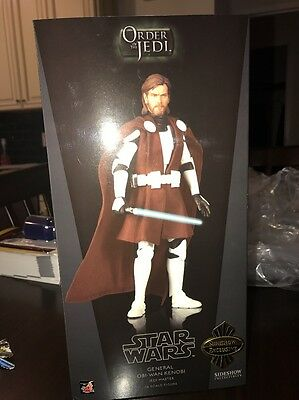 "Sideshow Weta Exclusive GENERAL OBI WAN KENOBI 12"" Figure Clone Wars MIP"