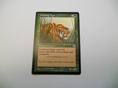 1x MTG Stalking Tiger-Tigre in Agguato Magic EDH Portal POR ING Inglese x1