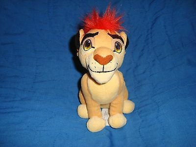 "Disney Lion Guard Kion 6.5"" tall Just Play Plush & beans"