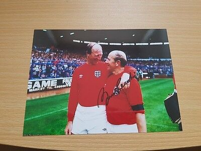 Hand Signed Sir Bobby Charlton Signed Photo 8 x 6 with COA Man United England