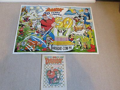 THE DANDY  COMIC SPECIAL 50TH BIRTHDAY ISSUE-No 2402+FREE GIFT POSTER- 5/12/1987